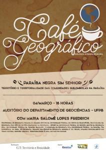 Café Geográfico - Cartaz